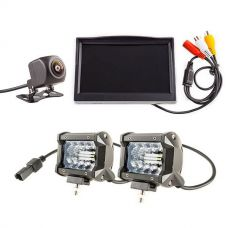 "Adventure Kings Reverse Camera Kit with 5"" Screen + 4"" LED Light Bar"