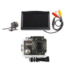"Adventure Kings Reverse Camera Kit with 5"" Screen + Action Camera"
