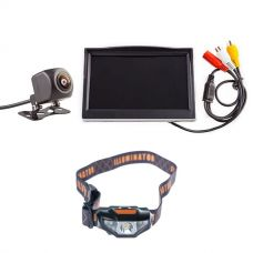 """Adventure Kings Reverse Camera Kit with 5"""" Screen + Kings LED Head Torch"""