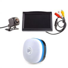 "Adventure Kings Reverse Camera Kit with 5"" Screen + Adventure Kings Mini Lantern"