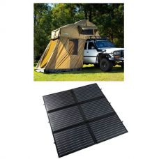 Adventure Kings Roof Top Tent + 4-man Annex + 200W Portable Solar Blanket