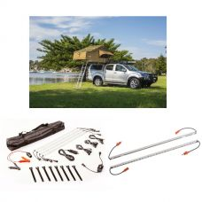 Adventure Kings Roof Top Tent + Illuminator 4 Bar Camp Light Kit + Orange LED Camp Light Extension Kit