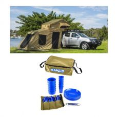 Adventure Kings Roof Top Tent + 6-man Annex + 37 Piece Picnic Set