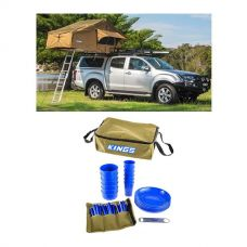 Adventure Kings Roof Top Tent + 37 Piece Picnic Set