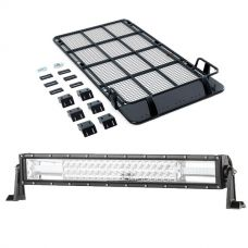 "Roof Top Tent Racks + Domin8r 22"" LED Light Bar"