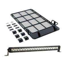 "Roof Top Tent Racks + 20"" LETHAL MKIII Slim Line LED Light Bar"