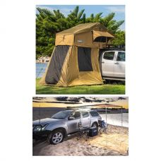 Adventure Kings Roof Top Tent + 4-man Annex + 2.5 x 2.5m 2 in 1 Awning + Strip Light