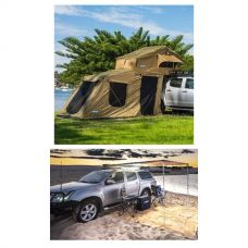 Adventure Kings Roof Top Tent + 6-man Annex + 2.5 x 2.5m 2 in 1 Awning + Strip Light