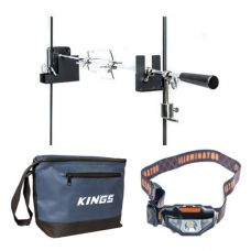 Adventure Kings Camping Rotisserie + LED Head Torch + Cooler Bag