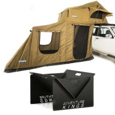 Adventure Kings Roof Top Tent + 6-man Annex + Kings Portable Steel Fire Pit
