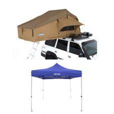 Adventure Kings Roof Top Tent + Gazebo 3m x 3m
