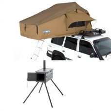 Roof Top Tent + Premium Camp Oven Stove