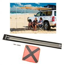Adventure Kings Awning 2x2.5m + Adventure Kings 3m Sand Safety Flag
