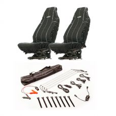 Adventure Kings Heavy Duty Seat Covers (Pair) + Illuminator 4 Bar Camp Light Kit