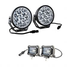 "Adventure Kings Domin8r Xtreme 7"" LED Driving Lights (Pair) + Adventure Kings 4"" LED Light Bar"