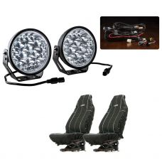 "Adventure Kings Domin8r Xtreme 7"" Essential LED Light Pack + Heavy Duty Seat Covers"