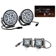 """Adventure Kings Domin8r Xtreme 7"""" Essential LED Light Pack + Adventure Kings 4"""" LED Light Bar"""