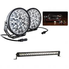 "Adventure Kings Domin8r Xtreme 9"" Essential Light Pack  + 20"" LETHAL MKIII Slim Line LED Light Bar"