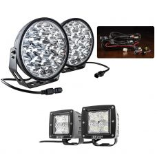 "Adventure Kings Domin8r Xtreme 9"" Essential Light Pack + 3"" LED Work Light - Pair"