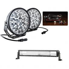 "Adventure Kings Domin8r Xtreme 9"" Essential Light Pack + Domin8r 22"" LED Light Bar"