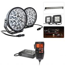 "Adventure Kings Domin8r Xtreme 9"" Ultimate LED Light Pack + Oricom UHF380PK In-Car 5W CB Radio"