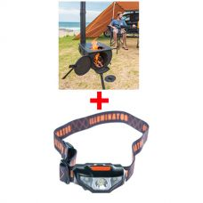 Adventure Kings Camp Oven/Stove + Illuminator LED Head Torch