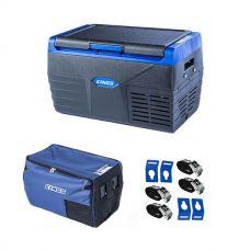 Kings 20L Fridge / Freezer + 20L Fridge Cover + Portable Fridge Tie-Down Kit (4-Pack)