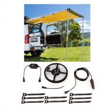 Adventure Kings Rear Awning - 1.4 x 2m + Illuminator 4m MAX LED Strip Light
