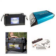 Adventure Kings 1500W Inverter + 138AH Battery + Maxi Battery Box + Illuminator 4 Bar Camp Light Kit