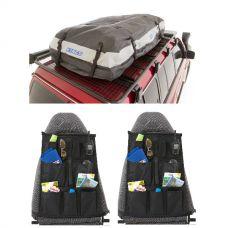 Adventure Kings Premium Roof Top Bag + 2x Adventure Kings Car Seat Organisers