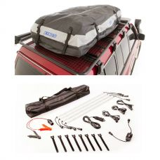 Adventure Kings Premium Roof Top Bag + Illuminator 4 Bar Camp Light Kit