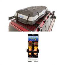 Adventure Kings Premium Roof Top Bag + Hercules Heavy Duty 3m Ratchet Strap (2 pack)