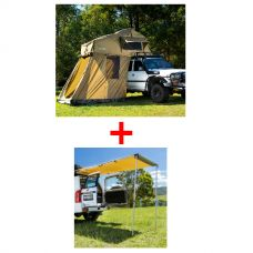 Adventure Kings Roof Top Tent + 4-man Annex + Rear Awning - 1.4 x 2m