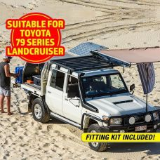 Adventure Kings Aluminium Platform Roof Rack Suitable for Toyota Landcruiser 79 Series Dual-Cab 2012+