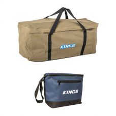 Deluxe Single Swag Premium Canvas Bag + Kings 8L Cooler Bag