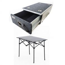 Titan Single Drawer 900mm + Kings Portable Alloy Camping Table