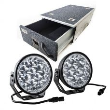 "Titan Single Drawer 900mm + Kings Domin8r Xtreme 7"" LED Driving Lights (Pair)"