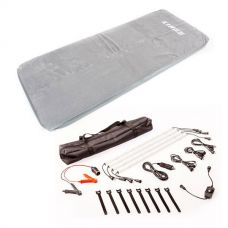 Self-Inflating Foam Mattress - Single + Illuminator 4 Bar Camp Light Kit