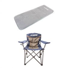 Self-Inflating Foam Mattress - Single + Throne Camping Chair