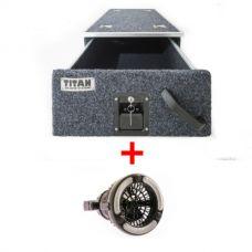 Titan Single Drawer 900mm + Adventure Kings 2in1 LED Light & Fan