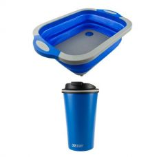 Collapsible Sink + 410ml Travel Mug