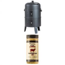Kings Portable Meat Smoker + Flaming Coals Traditional Lamb Rub