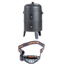 Adventure Kings Portable Meat Smoker + LED Head Torch