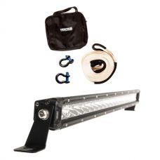 "Hercules Snatch Strap Kit + Kings 20"" LETHAL MKIII Slim Line LED Light Bar"