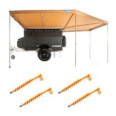 King Wing Deluxe 270° Wrap-Around Awning + 4x GroundGrabba - Lite