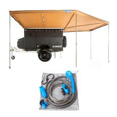 King Wing Deluxe 270° Wrap-Around Awning + 12v Portable Shower Kit