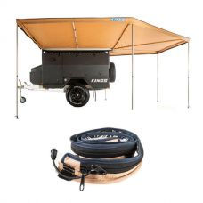 King Wing Deluxe 270° Wrap-Around Awning + LED Strip Light