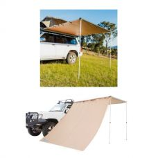 2.5 x 2.5m 2 in 1 Awning + Strip Light  + Adventure Kings Awning Side Wall