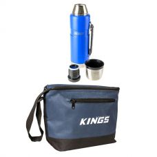 Adventure Kings 1.2L Vacuum Flask + Cooler Bag