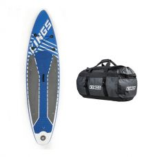 Adventure Kings Inflatable Stand-Up Paddle Board + 80L Extra-Large PVC Duffle Bag